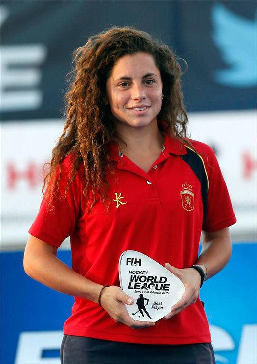 Georgina Oliva, nombrada mejor jugadora de la Liga Mundial de hockey hierba