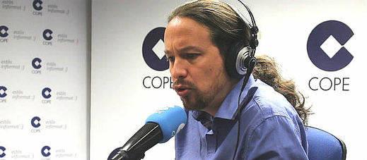 Un Pablo Iglesias desconocido reconoce en la COPE varios errores y entona el 'mea culpa'