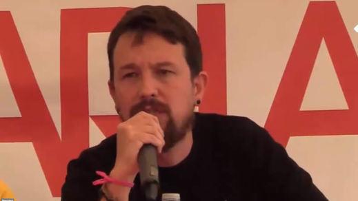 El incidente de Pablo Iglesias en la fiesta del PCE: ¿escrache o montaje?