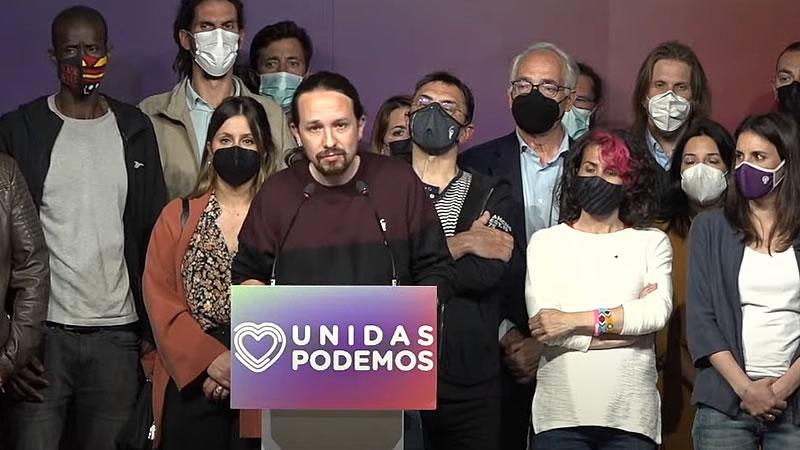 Pablo Iglesias fracasa, se disculpa y se marcha: dejará Podemos y no estará en la Asamblea