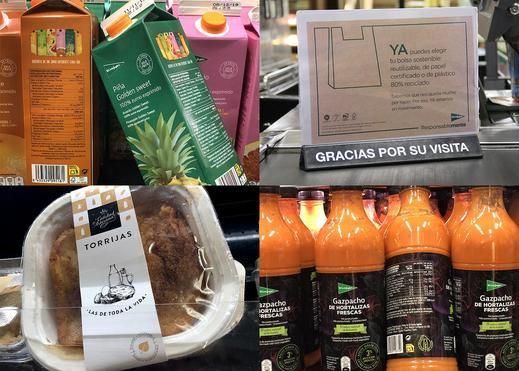 El Corte Inglés aplica en sus tiendas un plan de empaquetado más sostenible