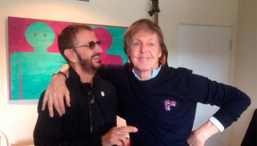 Paul McCartney y Ringo Starr, juntos de nuevo en el estudio
