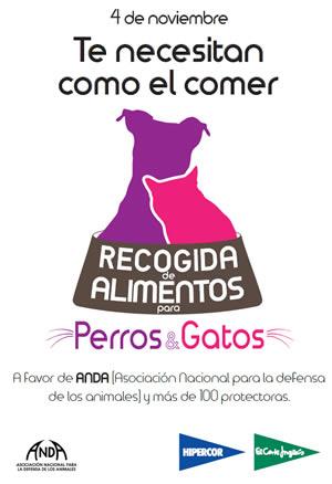 El Corte Inglés recoge este sábado pienso para mascotas para ayudar a las protectoras
