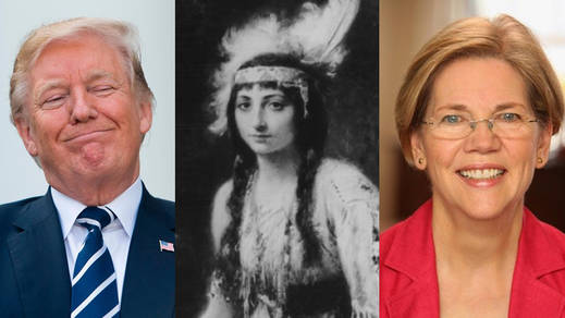 Trump llama Pocahontas a una senadora demócrata y vuelve a originar una crisis racista