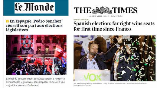 La prensa internacional felicita a Sánchez pero se horroriza con la irrupción de la ultraderecha