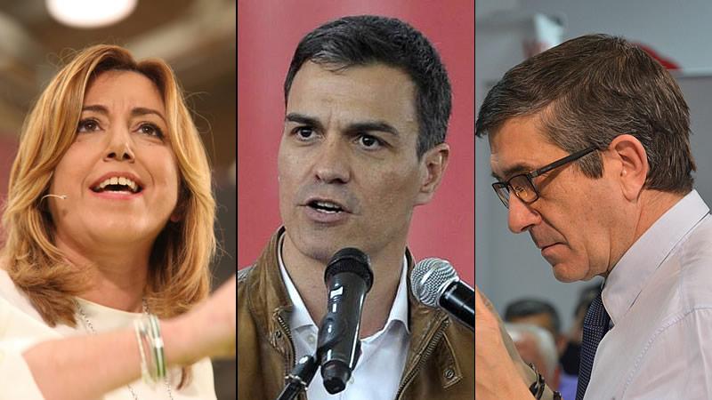 Pedro Sánchez y Patxi López hablan de la izquierda mientras Susana Díaz sólo piensa en ganar al PP