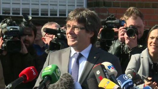 Puigdemont apela al diálogo tras salir de prisión: