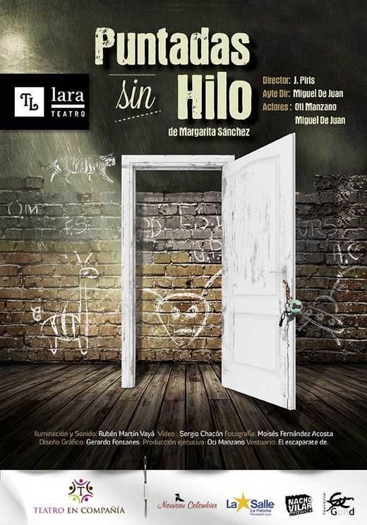 'Puntadas sin hilo', de Margarita Sánchez, dirigida por José Piris, con dos actores -Oti Manzano y Miguel de Juan- en verdadero estado de gracia