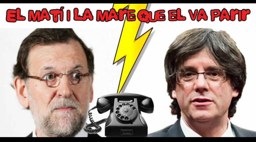 Un programa de radio catalán se burla de Rajoy y consigue cerrar una reunión con Puigdemont
