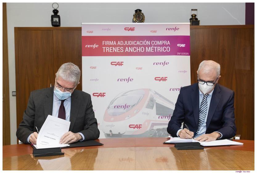 Renfe y CAF firman el contrato de suministro de 31 trenes de Ancho Métrico y 6 Alpinos por 258 millones de euros