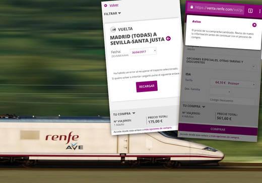 'Caos en la red': la web de Renfe se satura en plena oferta de billetes de AVE a 25 euros
