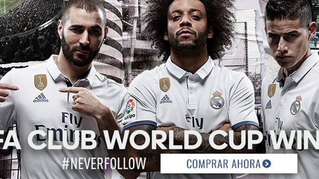 72522b9bdbffa El Real Madrid estrena camiseta con el logo de campeón del mundo ...