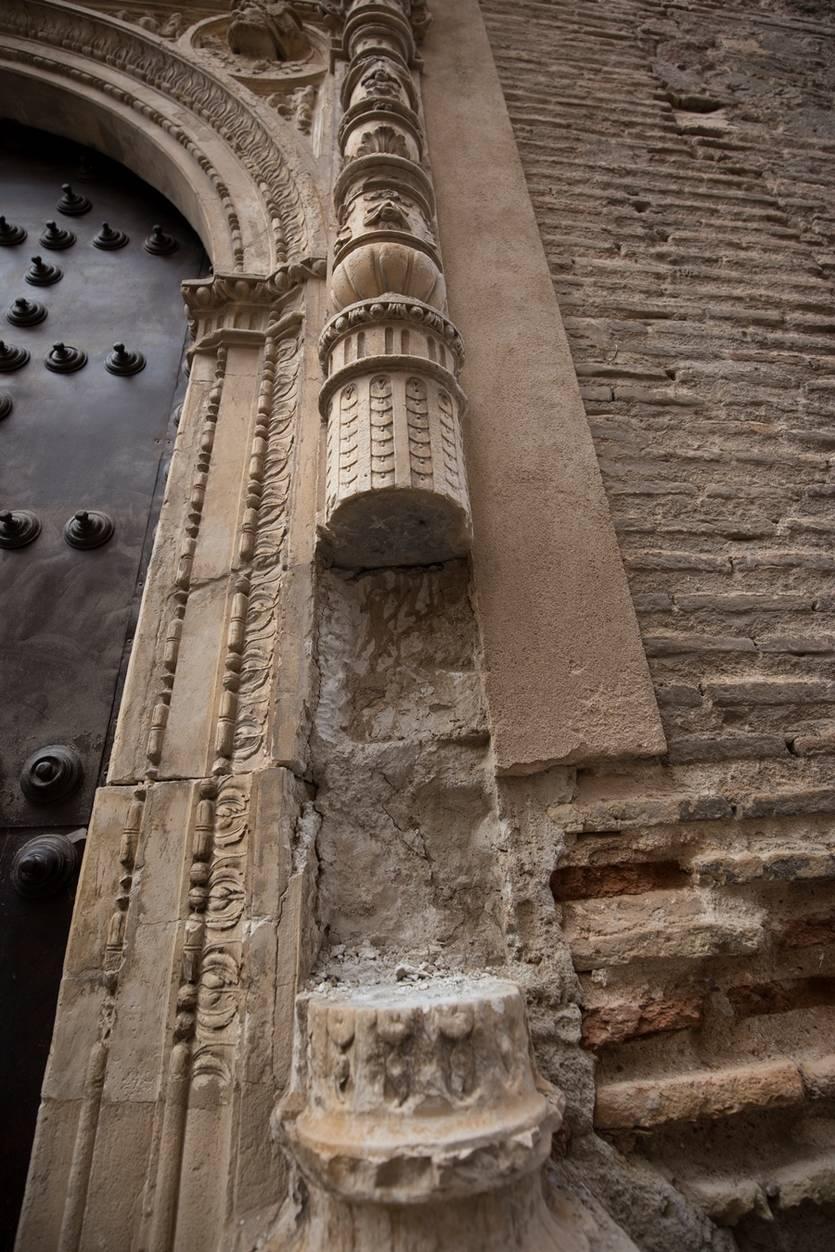 Educación denuncia ante la Policía el robo del trozo de columna en Toledo