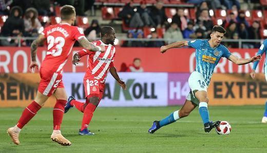 El Atleti deja para la vuelta la eliminatoria ante el Girona (1-1)