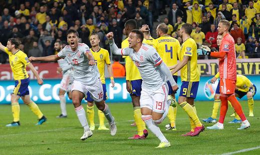 Una España de descuento se clasifica en Suecia para la Eurocopa 2020