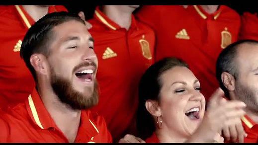 El himno de la Selección Española para la Eurocopa, marcado por Sergio Ramos cantando