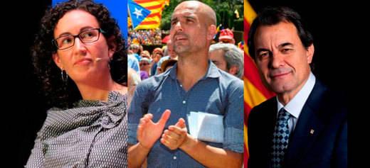 La Guardia Civil implica ante el Supremo a Artur Mas, Marta Rovira y Pep Guardiola por rebelión con el procés