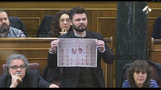 Rajoy y Rufián se enzarzan por el proceso independentista: