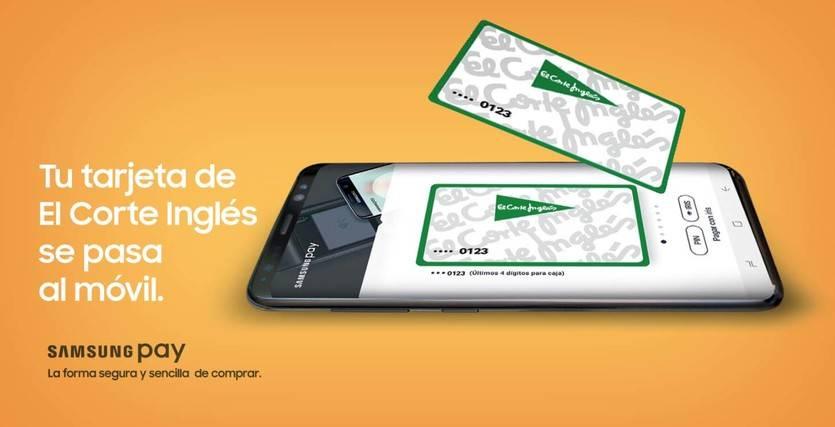 La tarjeta de El Corte Inglés supera en sólo 6 meses las 100.000 operaciones con Samsung Pay
