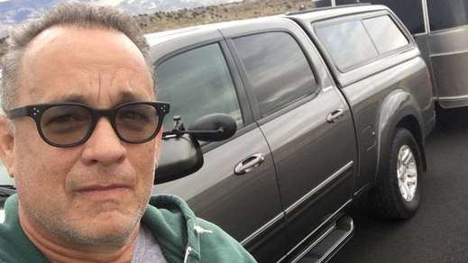 selfie de Tom Hanks