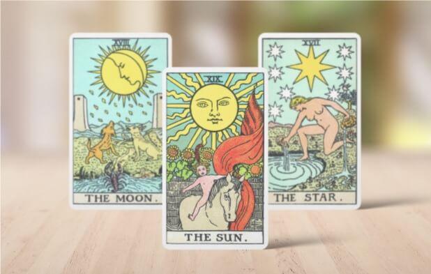 Varias cartas del Tarot