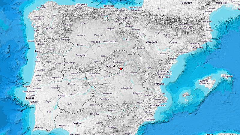 Terremoto en Guadalajara con epicentro cerca de la localidad de Yebra