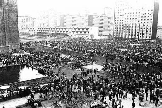 Miles de personas marcharon en México a 50 años de masacre de Tlatelolco
