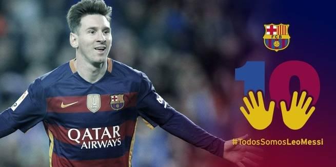 El Barça defiende su campaña de apoyo al defraudador Messi porque fue tratado