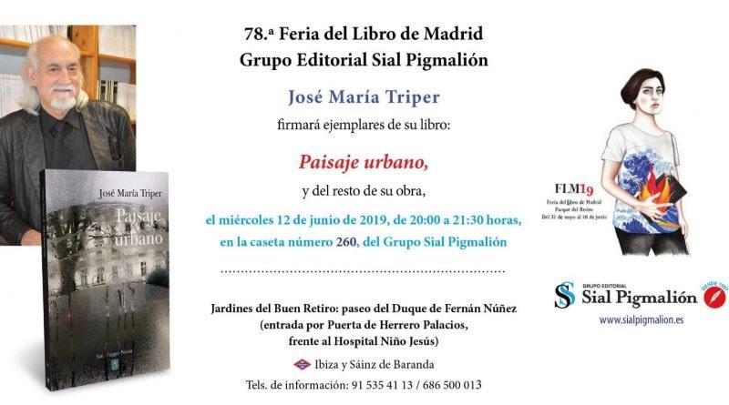 José María Triper, en la Feria del Libro