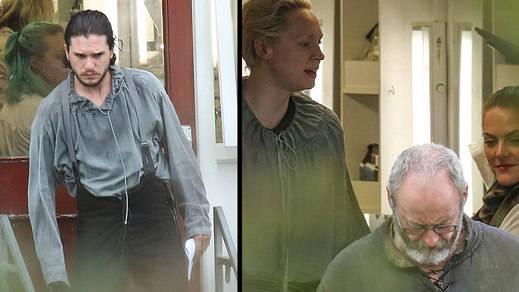 Las desconcertantes imágenes del rodaje de la 7ª temporada de 'Juego de Tronos'