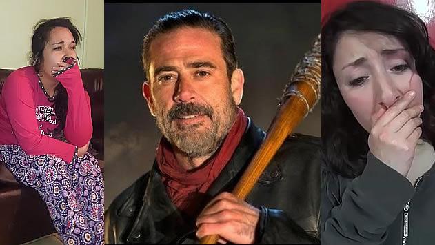 'The Walking Dead': las mejores reacciones en vídeo en tiempo real por la escabechina de Negan