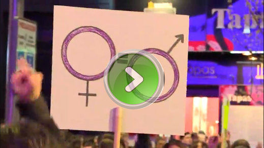 8-M: imágenes en vídeo de las multitudinarias manifestaciones feministas