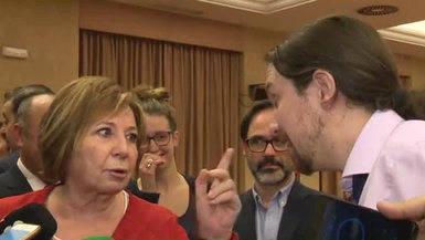 El rifirrafe de Pablo Iglesias con Celia Villalobos y otros diputados del PP
