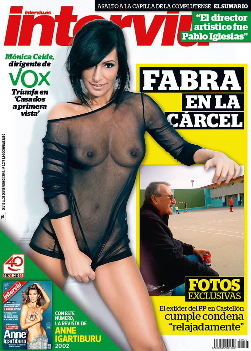 Una dirigente de Vox, Mónica Ceide, se desnuda en la portada de 'Interviú'