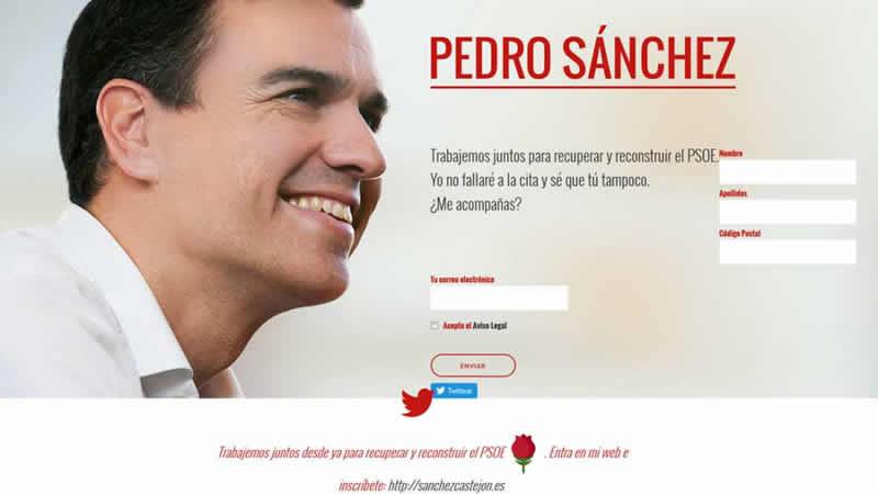 'sanchezcastejon.es' El ex secretario general del PSOE crea una web para medir sus fuerzas con la gestora