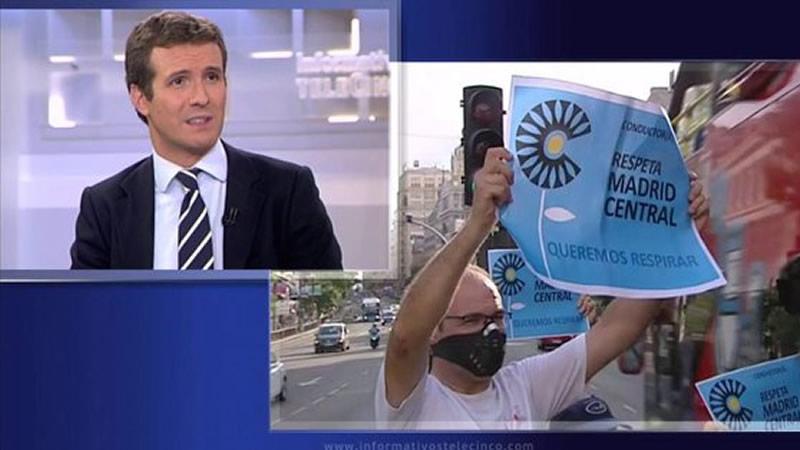 La increíble explicación de Casado de por qué el PP no apoya 'Madrid Central'