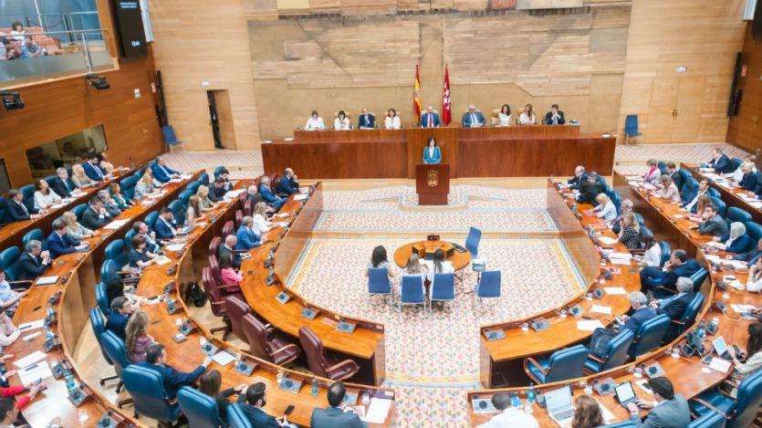 Siga en directo el Pleno de la Asamblea de Madrid