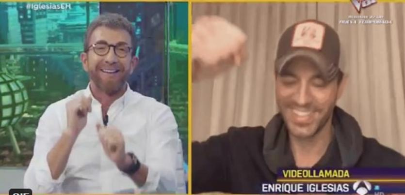 Enrique Iglesias acude a `El Hormiguero´ con Pablo Motos